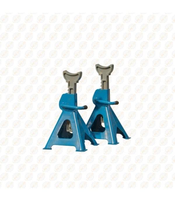 Подставка ремонтная механическая с фиксацией и упорными пятками 2т (h min 275мм, h max 420мм) 2 шт Rock FORCE 2003-7A