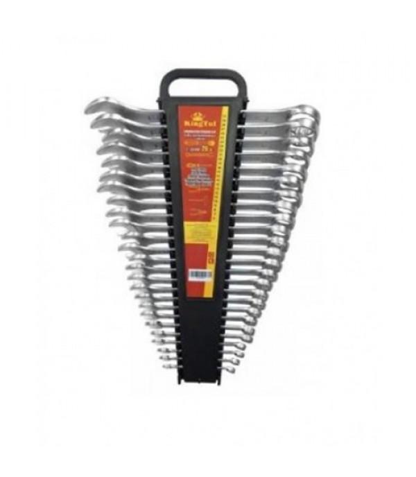 Набор ключей комбинированных 26 пр (6-28, 30, 32мм) в пластиковом держателе KINGTUL KT-3026MP