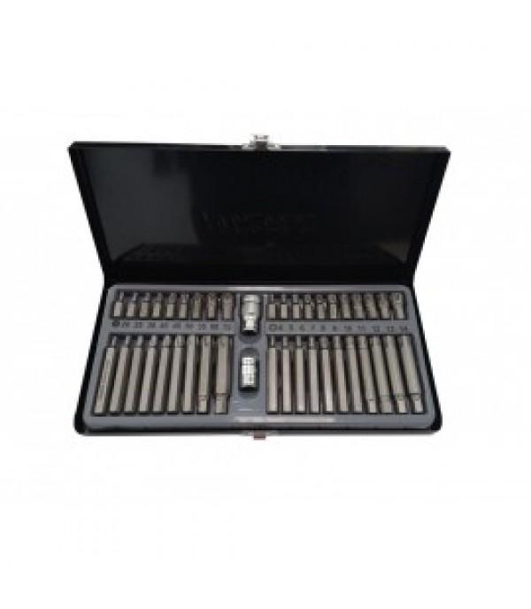 Набор бит с битодержателями, 42пр.10мм(75/30мм; TH:20,25,30,40,45,50,55,60,70; Ribe:М4-1414),в метал. кейсе Forsage F-4421C