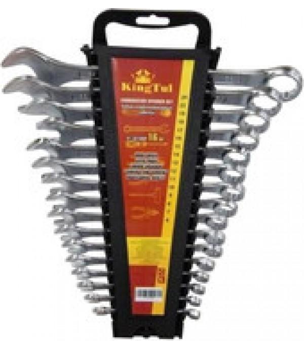 Набор ключей комбинированных 16пр (6-19, 22, 24мм) в держателе KINGTUL KT-3016MP
