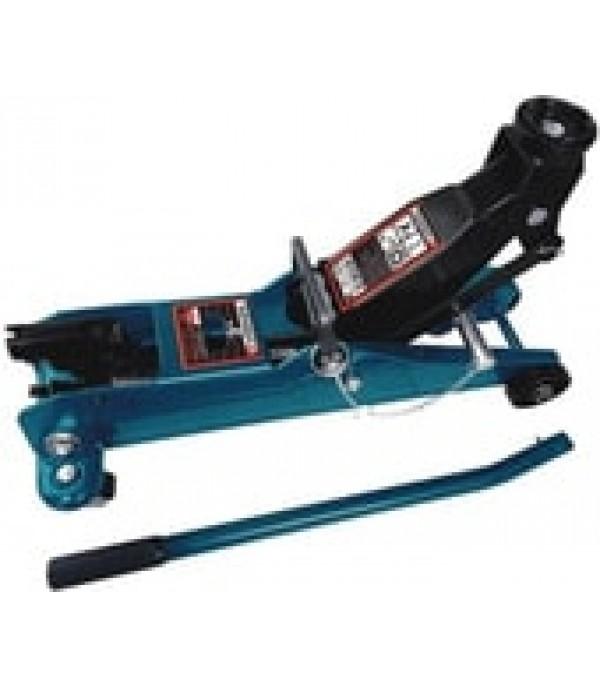 Домкрат подкатной гидравлический 3т ,с фиксацией+резиновая накладка в кейсе Forsage F-TR30002
