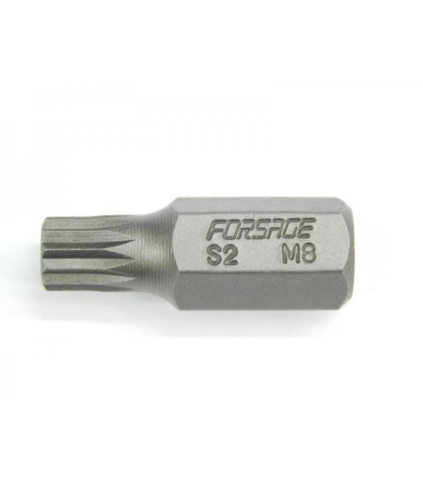 Бита 12-лучевая 30ммL M12 (под 10мм) Forsage 1783012