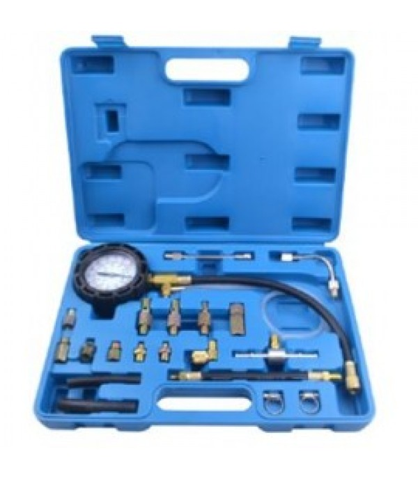 Набор для измерения давления в топливных системах (0-10 bar) 21пр. в кейсе. Rock FORCE RF-921G1