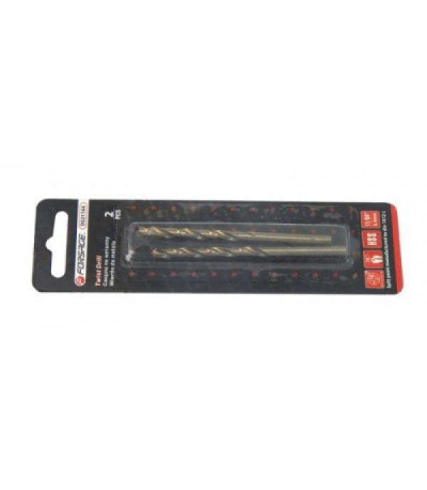 Сверло по металлу 4.8мм HSS+Co(2шт) Forsage F-DS2316