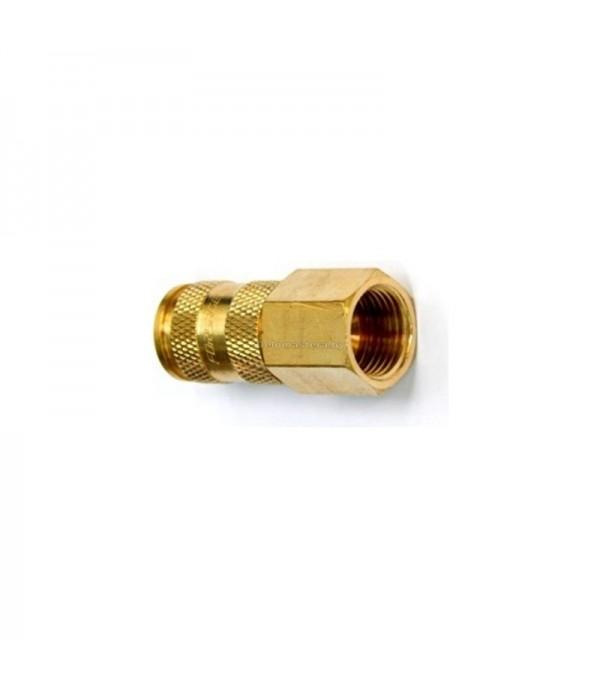 """Быстроразъем пневматический с клапаном с внутренней резьбой 1/2"""" (латунь) Partner BSE1-4SF"""
