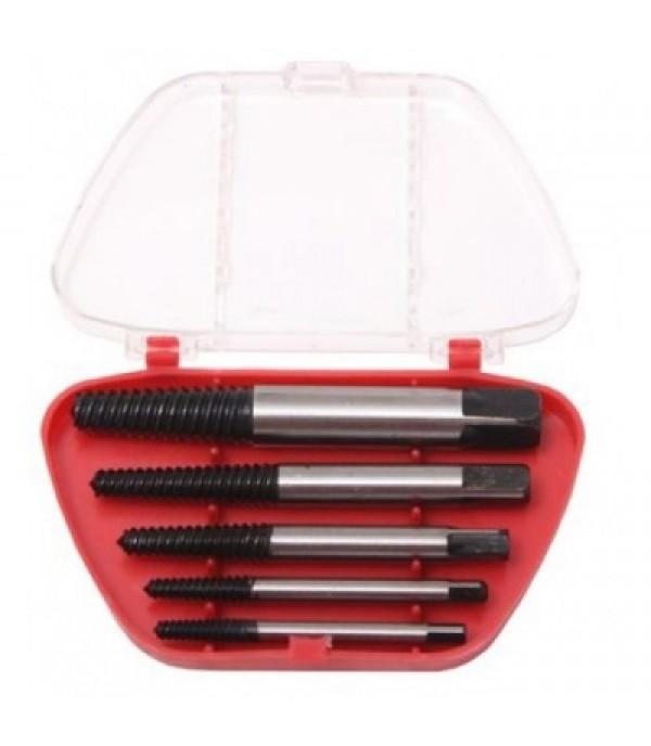 Набор экстракторов для извлечения заломанных болтов 5 пр в пластиковом футляре Partner PA-63005B