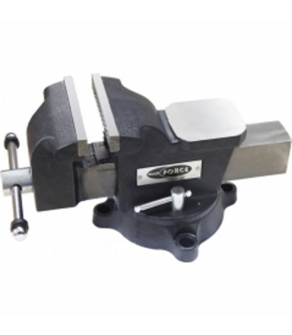 """Тиски стальные поворотные с наковальней + захват для труб 8""""-200 мм Rock FORCE 6540208M"""