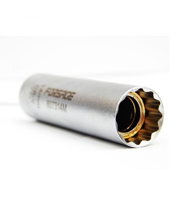 "Головка свечная с захватами 3/8"" 12 граней 14 мм L-65мм Forsage 807314"