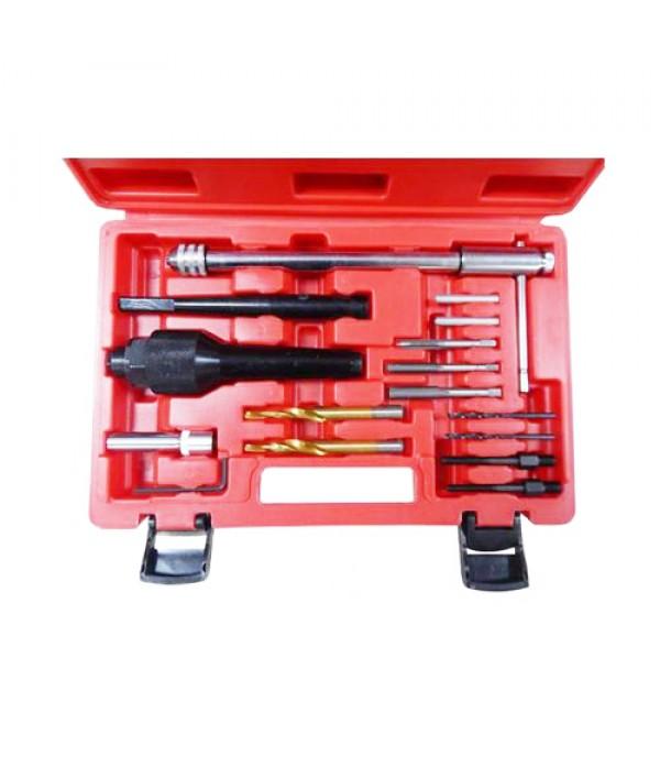 Комплект инструментов для извлечения свечей накаливания и реставрации резьбы Forsage F-04A6017