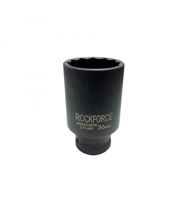 "Головка ударная глубокая тонкостенная 1/2"" 36мм (12 граней) диаметр- 47,5 мм Rock FORCE 4488536TH"