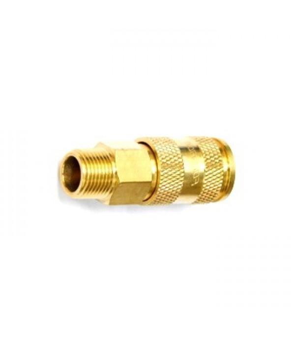 Быстросъем с клапаном (мама) наружная резьба 1/2 (латунь) FORSAGE BSE1-4SM