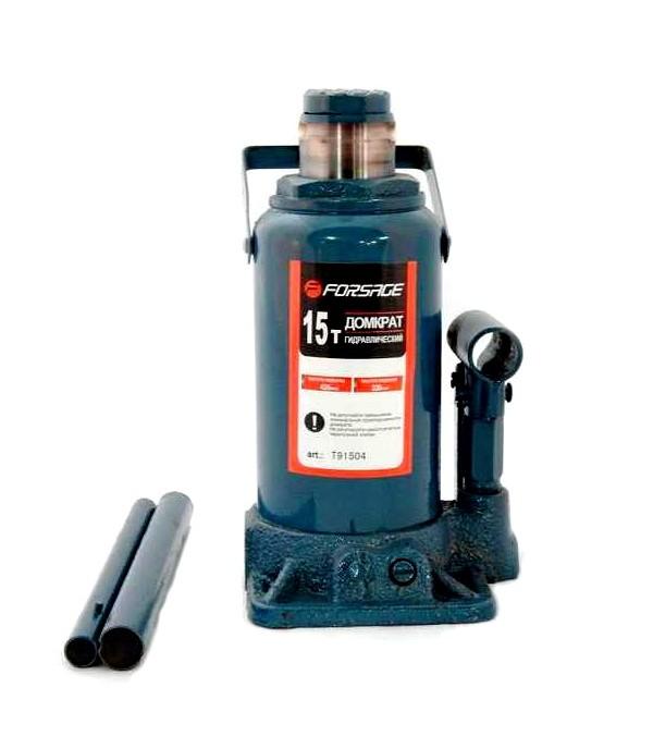 Домкрат бутылочный гидравлический 15 т с клапаном FORSAGE T91504