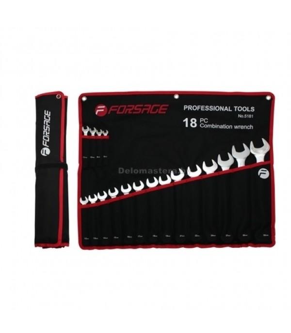 Forsage 5181 набор ключей рожково-накидных 18 пр. 8-32