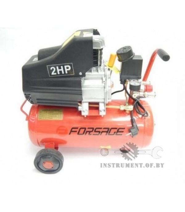 Компрессор 24 л поршневой с прямым приводом (1.5 кВт, ресивер 24л,8 бар, 180 л/м, 220 В) FORSAGE BM20/24