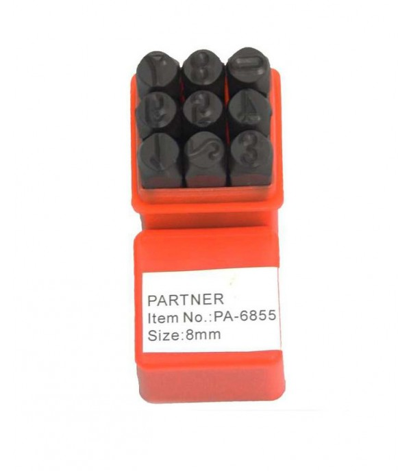 Набор цифровых штампов 7 мм 9 пр PARTNER PA-6855-7