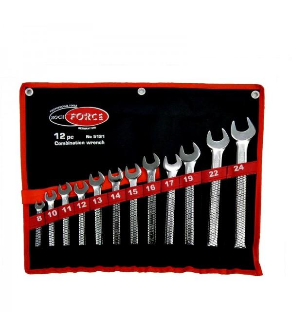 Набор ключей  рожково накидных 12 предметов 8-24 мм ROCK FORCE 5121