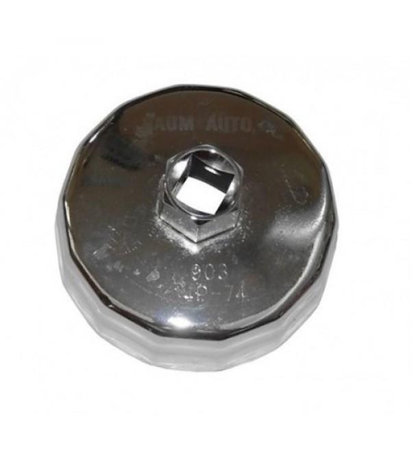 Съемник масляного фильтра (крышка) 74мм х 14гр BaumAuto BM07414