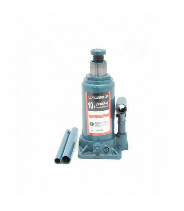 Домкрат бутылочный 10т с клапаном (min 200мм, max 385мм) Forsage F-T91004