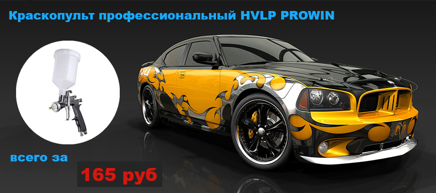 Краскопульт профессиональный HVLP PROWIN